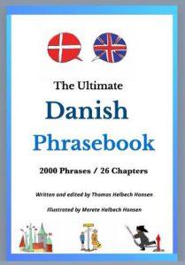 """Forside til """"Ultimate Danish Phrasebook"""" forfatter Thomas Helbech Hansen Illustrationer Merete Helbech Hansen"""