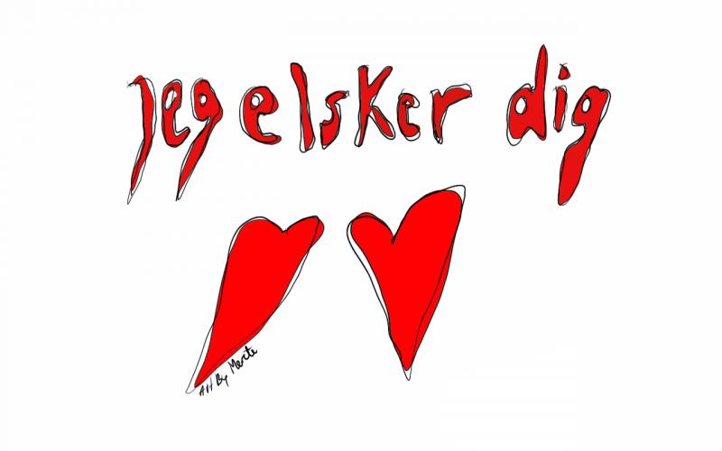 Merete Helbech. Illustration. Valentin
