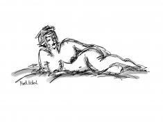 Tegning. Croquis. Merete Helbech