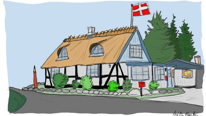 Husportræt efter foto kr. 400.- Tegning Merete Helbech Hansen