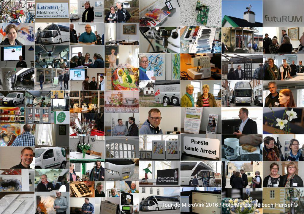 Eksempel på stor collage med foto fra Tour de MikroVirk 2016. Foto: Reportagefotograf Merete Helbech Hansen