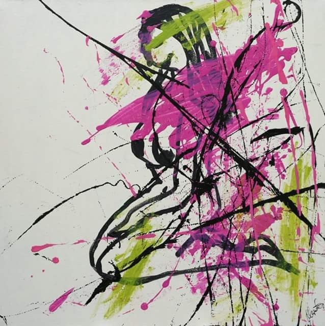 kvinde maleri