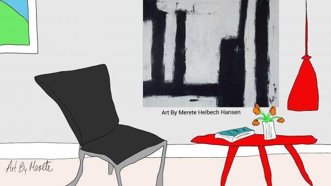 Merete Helbech. Malerier. Showroom