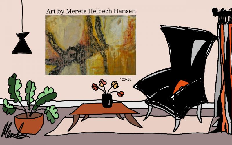 Merete Helbech. Maleri. Showroom