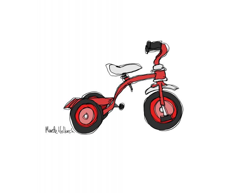 Merete Helbech. Cykel