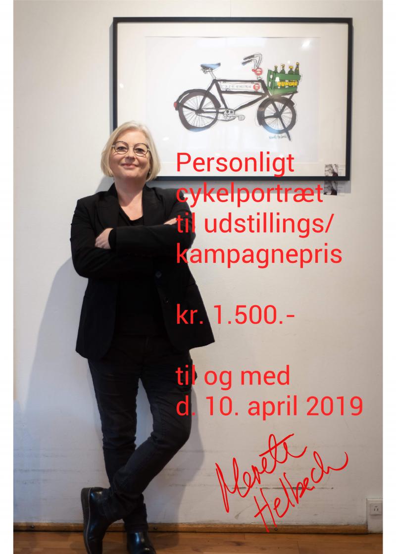 Merete Helbech. cykel kampagne pris