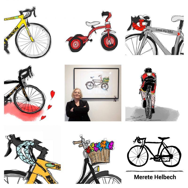 Merete Helbech. Cykelportræt